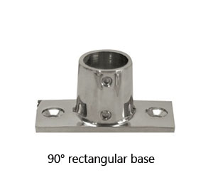 316 Stainless Steel Highly Polished Rail Pulpit Connector T Piece Tee 60 Degree
