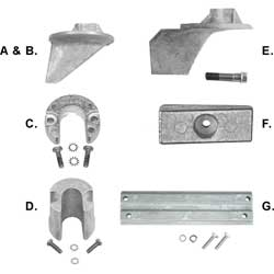 Mercury Marine Anodes & Kit Trim Cylinder 806189q, Outboard & Outdrive Anodes for Boats & Yachts
