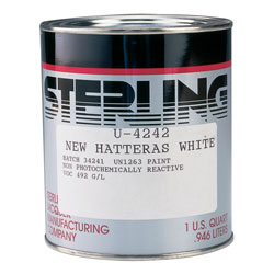 Sterling Gloss Topcoat Colors Lp Enamel Pure White Quart, Topside Paint for Boats & Yachts