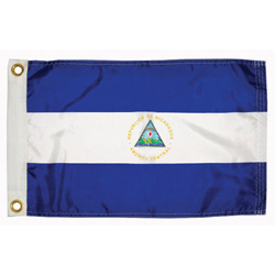 Taylor Made Nicaragua Courtesy Flag 12'' X 18'', Marine Foreign Courtesy Flags
