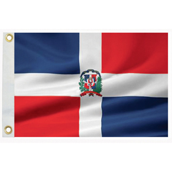Taylor Made Dominican Republic Courtesy Flag 12'' X 18'', Marine Foreign Courtesy Flags