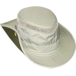 Tilley ''down Under'' Aussie Hat Airflo Hat Natural With Green Brim 7 7/8, Boating Technical Hats