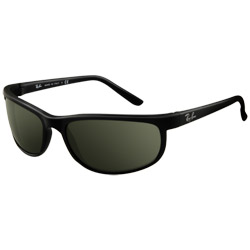 Ray Ban Predator Sunglasses Black Frames With Gray Green 15 Xlt Lenses, Stylish Boating Sunglasses over $90