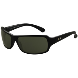 Ray Ban Highstreet Sunglasses Glossy Black Frames With Polarized Gray Lenses, Stylish Boating Sunglasses over $90