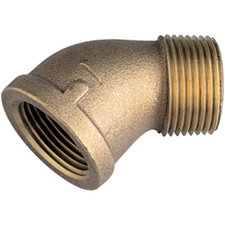 Seafit Bronze 45 Degree Street Elbows 2'', Metal Plumbing Fittings for Boats & Yachts