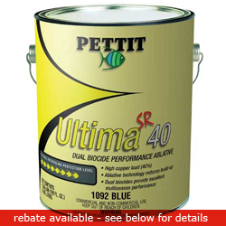 Pettit Paints Ultima Sr 40 Paint Green Gal, Bottom Paint for Boats & Yachts