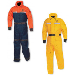 Mustang Survival Integrity Deluxe Flotation Suit Small (99 154lb ) Navy/orange, Commercial Life Jackets for Boats & Yachts