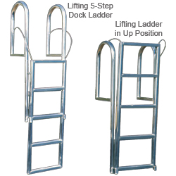 International Dock Lifting Ladders 5 Step Standard Rung, Dock Boarding Ladders for Boats & Yachts