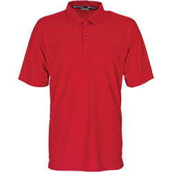 West Marine Men's Captain Polo Bravo Red Xxl, Men's Boating Performance Polo Shirts