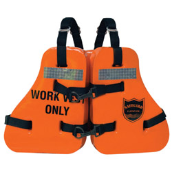 Imperial Type V Vinyl Dipped Work Vest, Commercial Life Jackets for Boats & Yachts