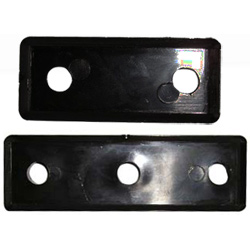 Sea Sure Rudder Fitting Packing Pieces 3 Hole Piece 6 35mm Thick, Rudder Hardware for Boats & Yachts