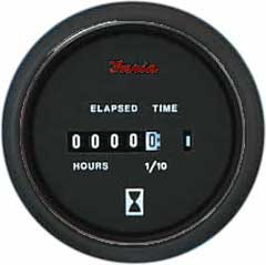 Faria Instruments Hourmeter Professional Red 10 000 Hrs 12 32 Vdc, Instrumentation for Boats & Yachts