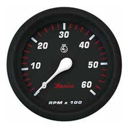 Faria Instruments Tachometer/hourmeter Professional Red 7000 Universal Outboard, Instrumentation for Boats & Yachts