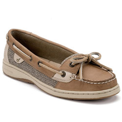 Sperry Top Sider Women's Angelfish Slip On Boat Shoes Linen/oat 8 5w, Women's Boating Moccasins