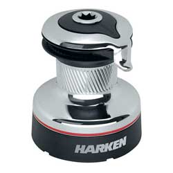 Harken #35 Radial Self Tailing Chrome Two Speed Winch, Self-Tailing Winches for Boats & Yachts