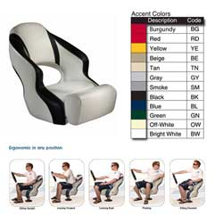 Attwood Aergo 240 Seating System Seat Off White/black, Boat Helm & Fishing Seats