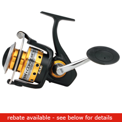 Penn Conquer 7000 Metal Spin 355/14lb 18 1oz, Spinning Fishing Reels for Boats & Yachts