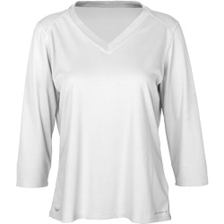 Columbia Women's Skiff Guide 3/4 Sleeve Tee White, Women's Boating Knit Performance Long-Sleeve Shirts