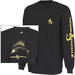 Hook & Tackle Men's X Ray Sailfish Tech Tee White Xxl, Men's Boating Graphic Performance Long-Sleeve Tees