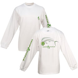 Hook & Tackle Men's Bull Dolphin X Ray Solar Tee Blue Tech Tee White Xl, Men's Boating Graphic Performance Long-Sleeve Tees