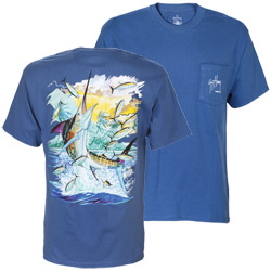 Guy Harvey Men's Island Marlin Short Sleeve Tee Ss White, Men's Boating Graphic Short-Sleeve Tees