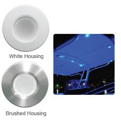 Lumitec Lighting Orbit Flush Mount Down Lights Red/white With Dimming Brushed Housing, LED Interior Lights for Boats & Yachts