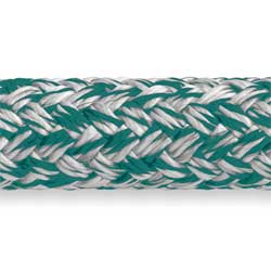 Samson Rope Mlx Double Braid 7/16'' Diameter 9 500 Lb Breaking Strength Green, Dyneema & Spectra Lines for Boats & Yachts