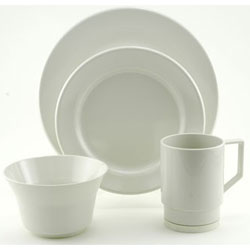 Galleyware 16 Piece Dinnerware Set, Boat Tableware