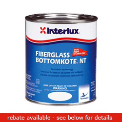 Interlux Fiberglass Bottomkote Nt Blue 3 Gal, Bottom Paint for Boats & Yachts