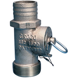 Groco Safety Seacock Converters Conversion 1 1/2'' Thread Npt Hose Id, Valves, Inlets & Strainers for Boats & Yachts