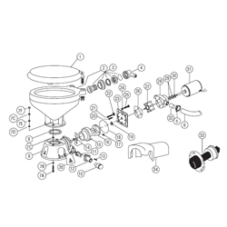 Jabsco Service Kits & Parts For Electric Toilets Base Assembly 37010, Head Parts for Boats & Yachts