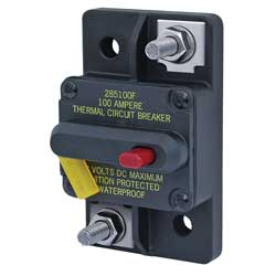 Blue Sea Systems 285 Series Thermal Circuit Breakers Surface Mount Breaker 30a, Circuit Protection for Boats & Yachts