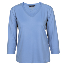 West Marine Woman's Captain Tech 3/4 Sleeve Tee Shirt Deep Coral Xl, Women's Boating Knit Performance Long-Sleeve Shirts