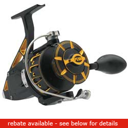 Penn Torque S5 Spinning Reels Trqs5 B Reel Black 7bb 5 9 1 Gr 21 3oz 300/15lb Yd/tst, Spinning Fishing Reels for Boats & Yachts