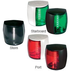 Hella Marine Navled Pro Navagation Lights Port Side Mount Red White Fixture, Navigation Lights for Boats & Yachts