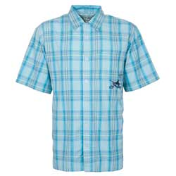 Guy Harvey Men's Woven Plaid Shirt Turquoise Plaid 2xl, Men's Boating Woven Casual Long-Sleeve Shirts