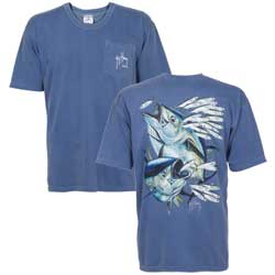 Guy Harvey Men's Bluefin Tuna Vintage Tee Citrus, Men's Boating Graphic Short-Sleeve Tees