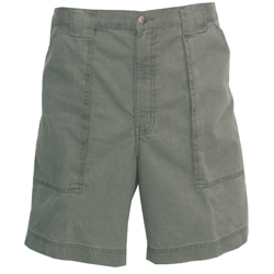 Hook & Tackle Men's Beer Can Island Long Neck Shorts Olive 36, Men's Boating Casual Constructed Shorts