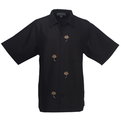 Weekender Men's Dancing With The Palms Woven Shirt Black, Men's Boating Woven Casual Long-Sleeve Shirts