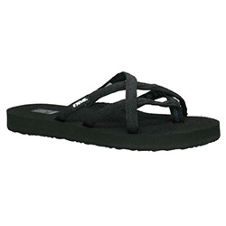 Ahnu Women's Olowahu Sandals Black 7, Women's Boating Flip Flops