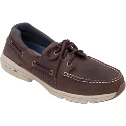 West Marine Men's Performance Lace Up Mocs Chocolate 9, Men's Boating Moccasins
