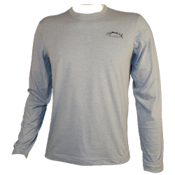 Bluefin Men's Circle Design Long Sleeve Technical Tee Coral, Men's Boating Graphic Performance Long-Sleeve Tees