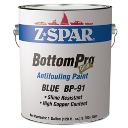 Z Spar Bottompro Gold Antifouling Paint Gold Blue Ga, Bottom Paint for Boats & Yachts