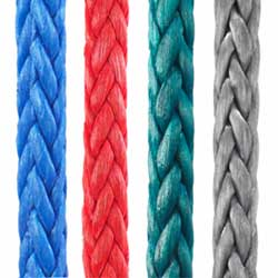 New England Ropes Dyneema Sts 12 Single Braid Line 75 3/16'' Red, Dyneema & Spectra Lines for Boats & Yachts