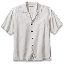 Tommy Bahama Men's Bird It Through The Grapevine Camp Shirt Coconut, Men's Boating Woven Casual Long-Sleeve Shirts