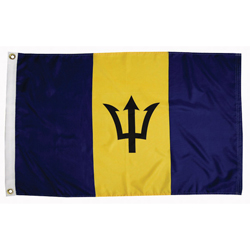 Taylor Made Barbados Courtesy Flags 12'' X 18'', Marine Foreign Courtesy Flags