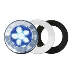 West Marine 3 Bezel Interior Led Spotlight Blue, LED Interior Lights for Boats & Yachts