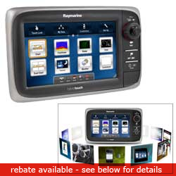 Raymarine E7 Multifunction Display With Rest Of World Cartography, Network Displays for Boats & Yachts