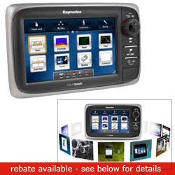 Raymarine E7d Network Multifunction Display With Sonar & U s Cartography No Transducer, Network Displays for Boats & Yachts