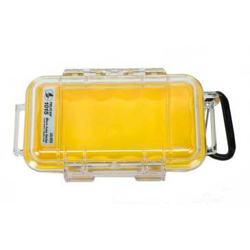 Pelican Products 1015 Micro Case Clear With Yellow Lining, Boat Storage & Organization
